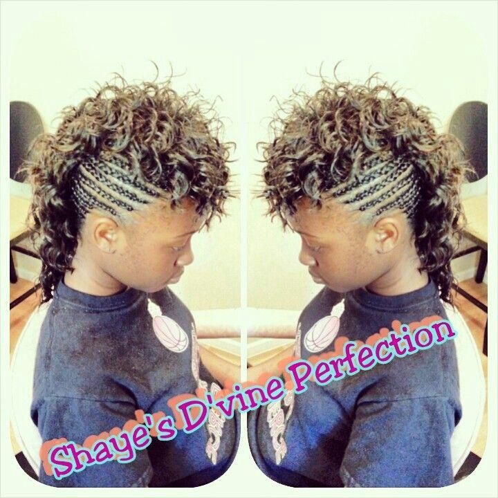 Mohawk braid style