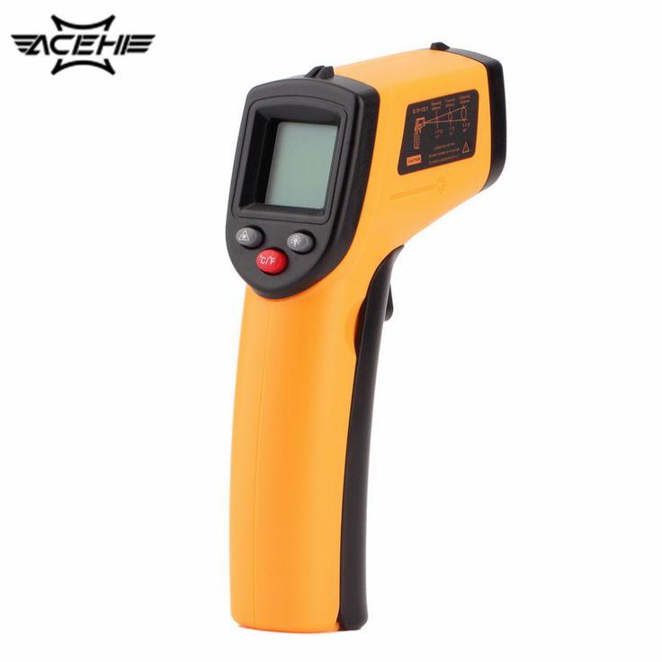 GM320 Digital Láser Sin Contacto del IR Digital C/F Selección Termómetro Pistola de Mano-50 ~ 330 Grados termorregulador con Luz de Fondo
