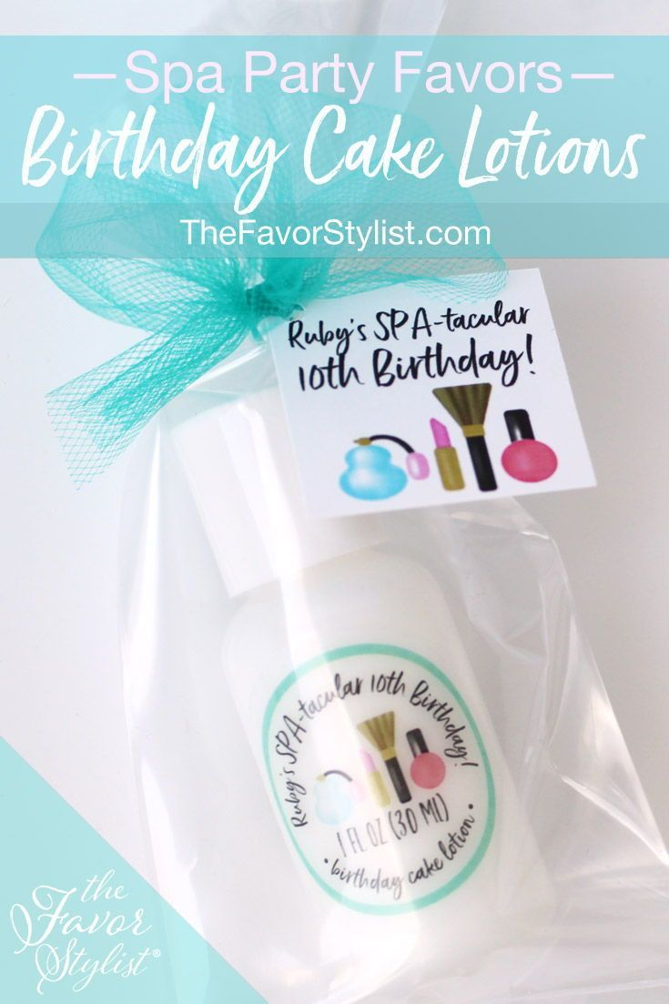 In Birthday Cake Scent For The Girl Or Her Other Favorite Fragrances Click Through To Add Your Own Custom Details Birthdayparty Spaparty