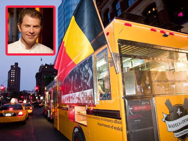 "Wafels and Dinges, New York City — Bobby Flay : Bobby Flay is a fan of New York City food truck  <a href=""http://www.wafelsanddinges.com/"" target=""_blank"">Wafels and Dinges</a>, which makes authentic Belgian waffles in both sweet and savory versions. via Food Network"
