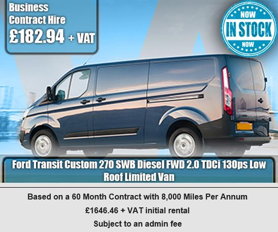 Ford Transit Custom 270 SWB Diesel FWD 2.0 TDCi 130ps Low Roof Limited Van