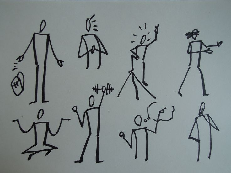 Drawing in VisualStorming Workshop Lecture Notes body people movement