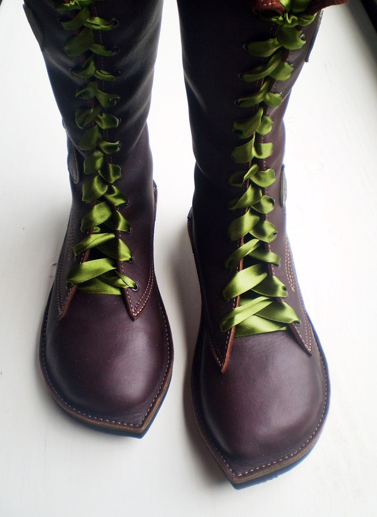 CUSTOM Leather Bohemian Fairy tale boots, MOONSHINE Pimpernel version by  Fairysteps. £295.00,