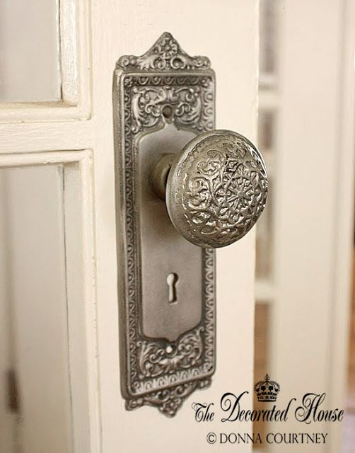DIY:  How to create an antique silver finish on an old door knob!