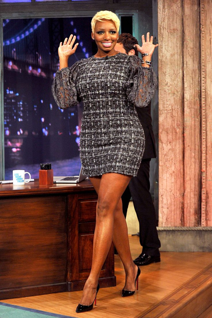 NeNe in Grey Fannel Dress. wish they stated where you can get this dress