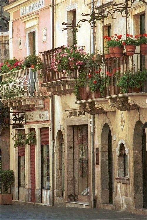 Ancient Street, Taormina, Sicily