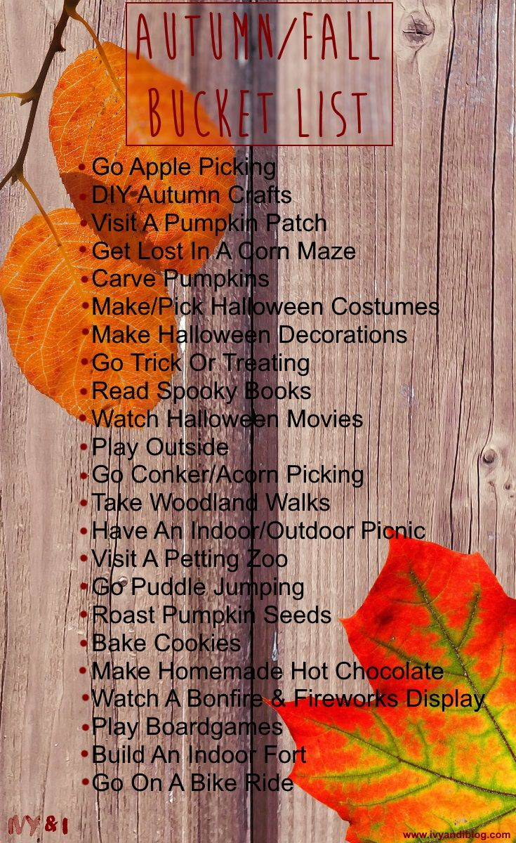 Autumn/Fall Family Bucket List