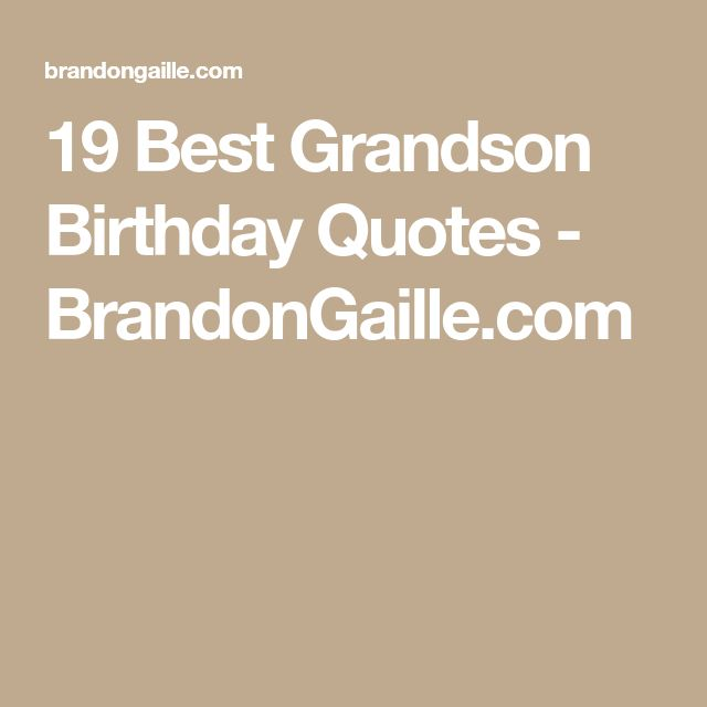 19 Best Grandson Birthday Quotes - BrandonGaille.com