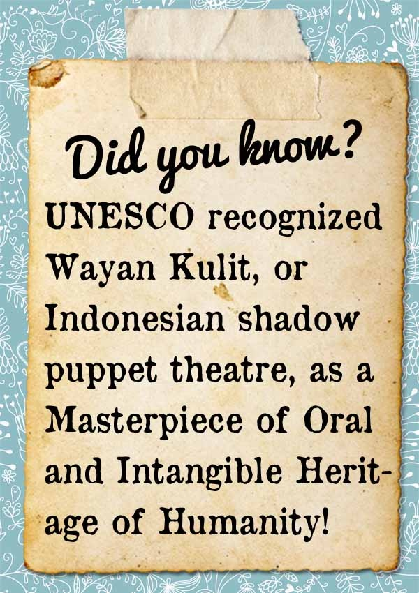 INDONESIA - Wayang Kulit/ Shadow Puppet. Awesome fact!