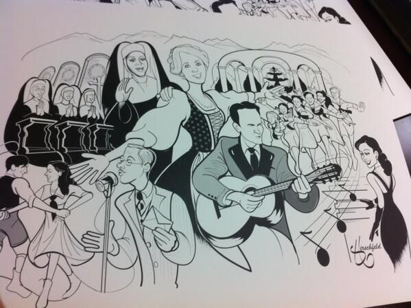 Carrie Underwood & More Comment On New SOUND OF MUSIC Inspired Hirschfeld Art