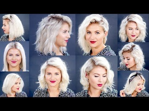 HOW TO: 10 Easy Short HairStyles With Flat Iron Tutorial | Milabu - YouTube