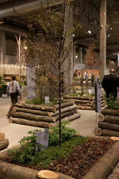 Log Raised Beds Chicago Flower Garden Show