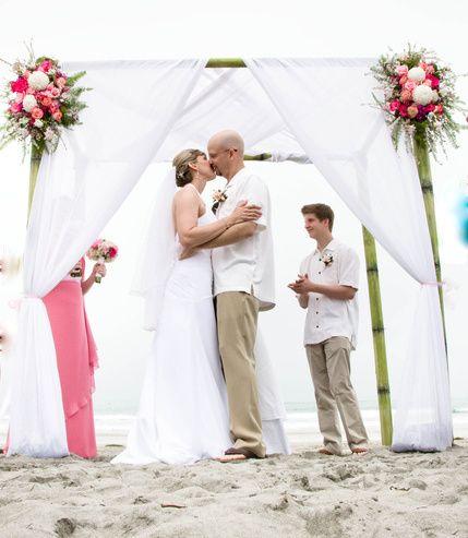Arc de Belle's Bamboo Island Wedding Canopy at La Jolla Shores Hotel & Spa