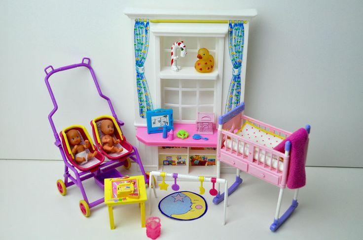 barbie puppen org baby m bel zwillingskinderwagen. Black Bedroom Furniture Sets. Home Design Ideas