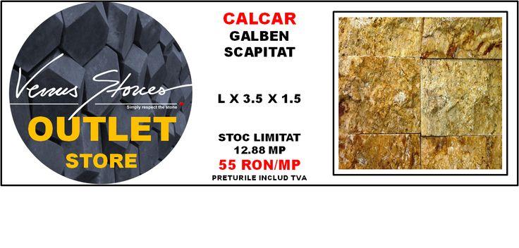 CALCAR galben scapitat galben LX3.5X1.5