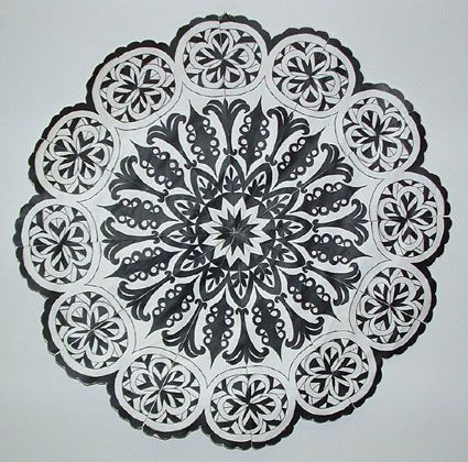 mandala art - radial symmetry lesson