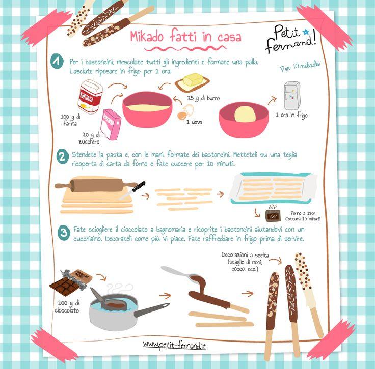 La ricetta illustrata dei mikado fatti in casa è solo su Petit-Fernand! Scopri tante altre ricette e contenuti divertenti sul nostro blog!