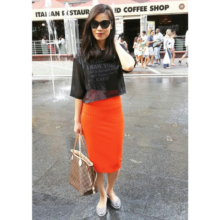 Midi Pencil Skirt and Louis Vuitton