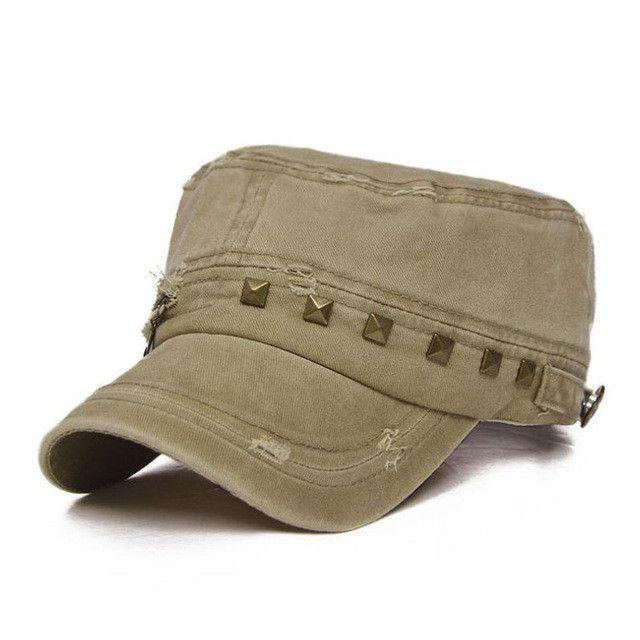 Windor Destroyed Studded Military Hat