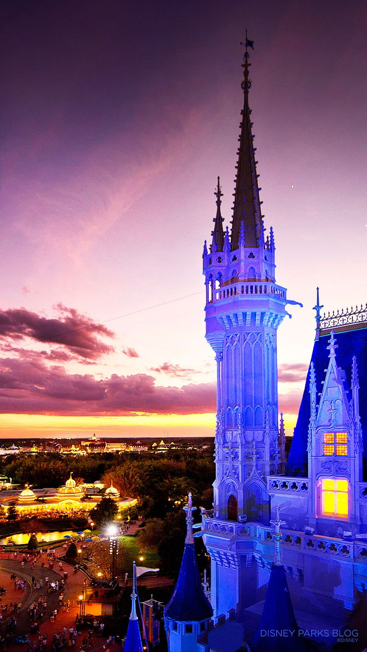 Cinderella Castle sunset - iPhone6 wallpapers