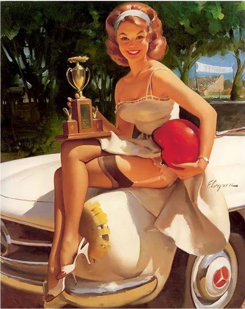 Пин-ап – стиль, связанный с иллюстрированным образом соблазнительной «девушки с обложки» (pin-up girl). Появился в США в конце XIX века, был наиболее распространен в период Второй мировой войны среди американских солдат.  Черты стиля пин-ап Цвета – однотонные ткани преимущественно розовых, голубых, красных, желтых оттенков; яркие принты: ягоды, цветы, фрукты, горох, клетка, полоска.  Ткани – легкие и струящиеся материалы (шифон, шелк, сатин).  Гардероб — юбки и платья с завышенной талией и…