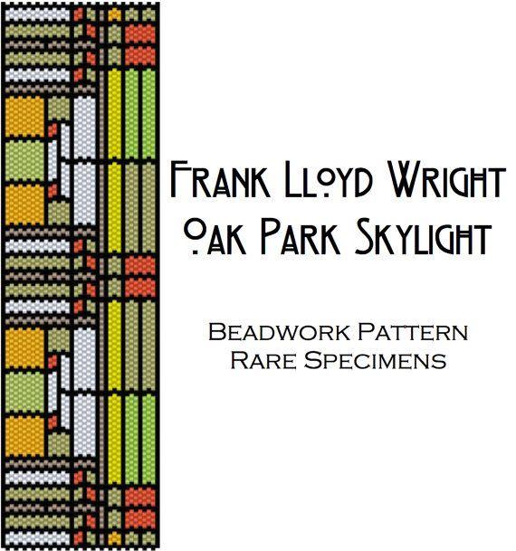 Frank Lloyd Wright Oak Park Stained Glass Window by RareSpecimens