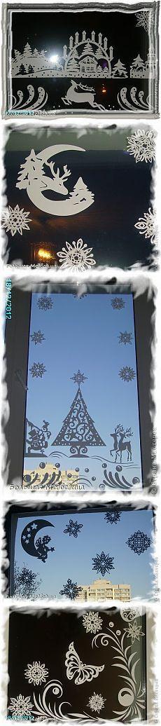 Вырезание - И снова украшаем окна к Новому году 2012-2013 » Поиск мастер классов, поделок своими руками и рукоделия на SearchMasterclass.Net