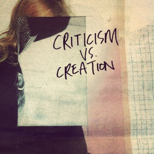 """""""It's the easiest thing in the world to tear down somebody's work. The hard part is actually creating it. It's criticism versus creation.""""    - Your art matters.: Somebody S Work, Criticism Versus, Easiest Thing, Hard Part, Versus Creation, Art Matters, Words Words"""
