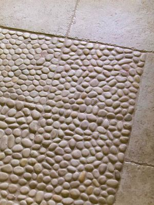 17 best images about bathroom floor on pinterest pebble for River stone bath mat
