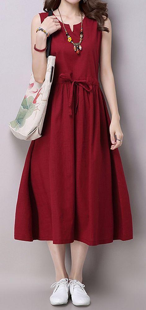Drawing Sleeve Loose Dress