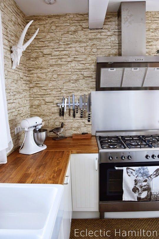 http://eclectichamilton.blogspot.de/2015/01/cooking-station-meine-kuche.html  Küche Kitchen Hamilton Landhausküche Gasherd Kitchen Aid
