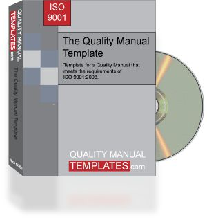 The Quality Manual And Procedures Template For Iso