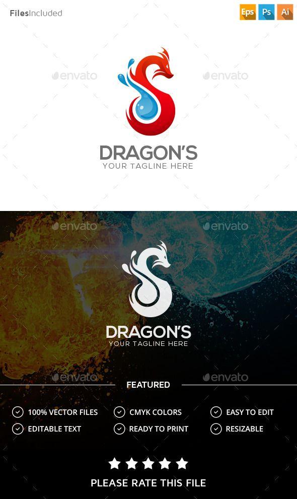 Dragon  Logo Design Template Vector #logotype Download it here: http://graphicriver.net/item/dragon-logo/14048044?s_rank=261?ref=nexion