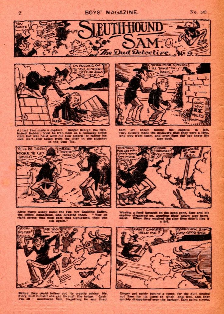 UK GOLDEN AGE HEROES AND COMICS: Sleuth-Hound Sam The Dud Detective no. 4