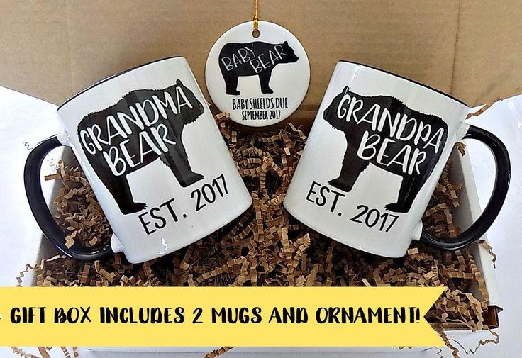 Pregnancy Reveal to Grandparents, Grandparent Mugs, Pregnancy Announcement to Parents, Mug Set, Grandma Grandpa Mugs, Grandparents to be