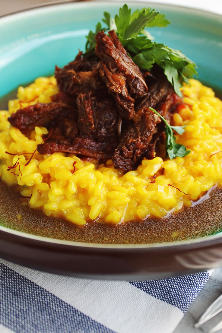 Risotto Milanese with ragu of costela_F & F