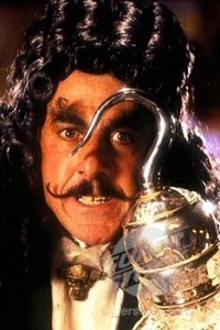 Captain Hook (from Hook, 1991). Portrayed by Dustin Hoffman