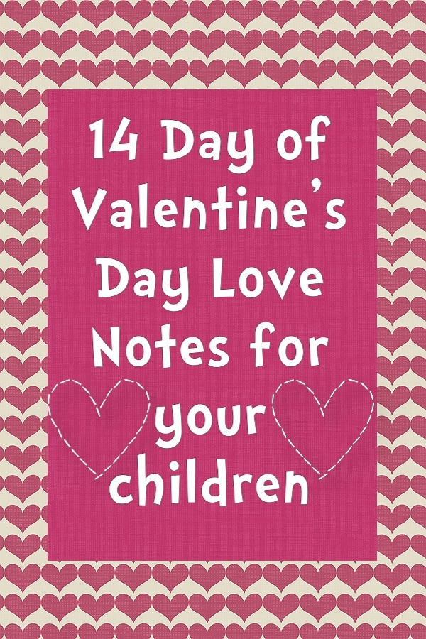 Free printable Valentine's Day love notes for your kids