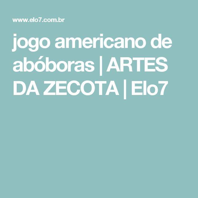jogo americano de abóboras | ARTES DA ZECOTA | Elo7