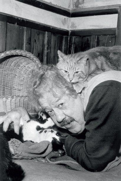 Michel Simon et ses chats (Hugues Vassal, 1965)