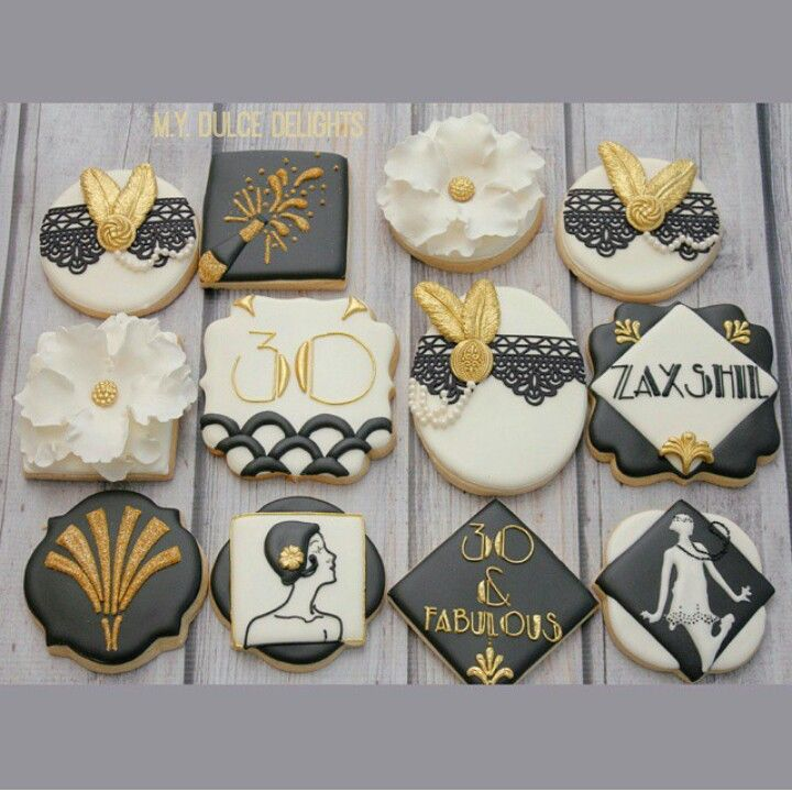 Great Gatsby inspired cookies