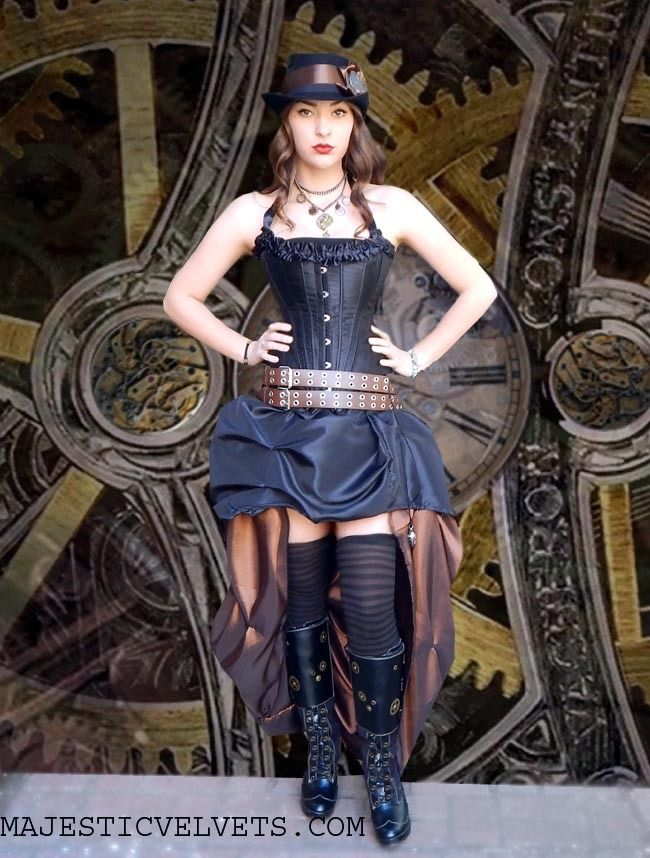 how to wear a steam punk corset