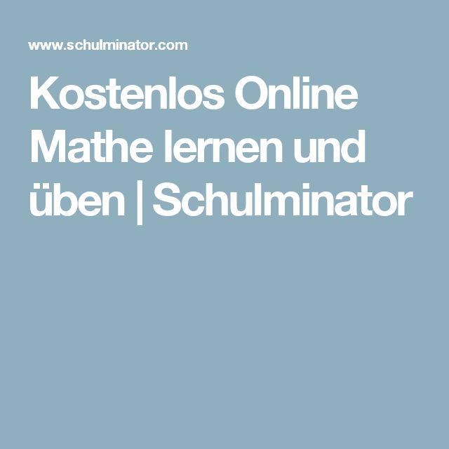 Kostenlos Online Mathe lernen und üben | Schulminator