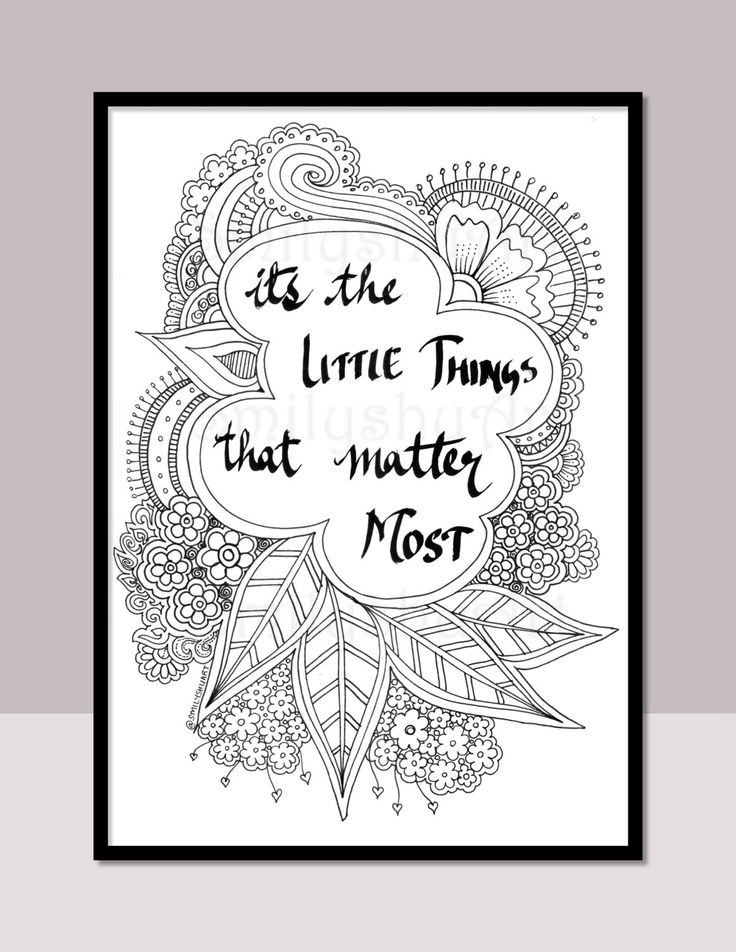 PRINTABLE Quotes Coloring Book Self Help 10 Motivational Christmas Card Enclosures Holiday Mindfulness