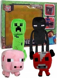 Minecraft Jazwares Set of all 4 Plush Figures with BONUS Storage Cube ...