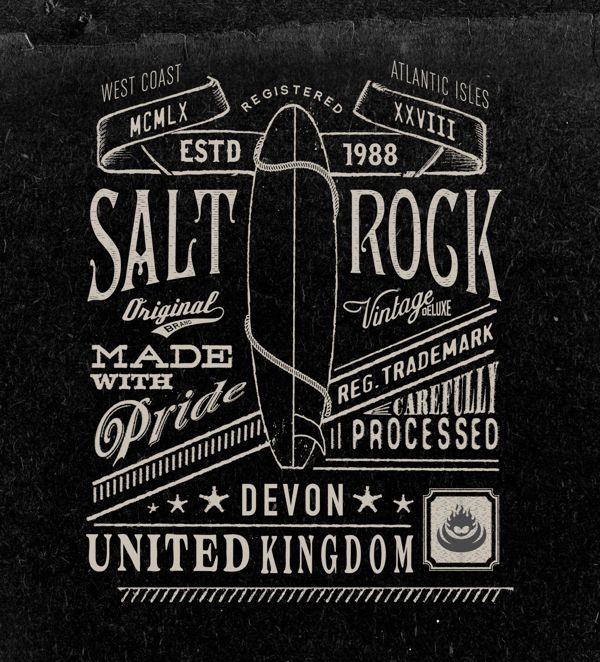 Vintage Graphics By Neil Beech Like The Idea Of Swapping Surf For A Snowboard Adding More Custom Text Representing My Life And Having Inked On Arm