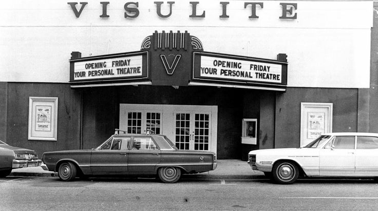 Visulite Theatre on Elizabeth Avenue in #CLT - September, 1977. Photo courtesy of Retro Charlotte: Movie Theatres of Charlotte