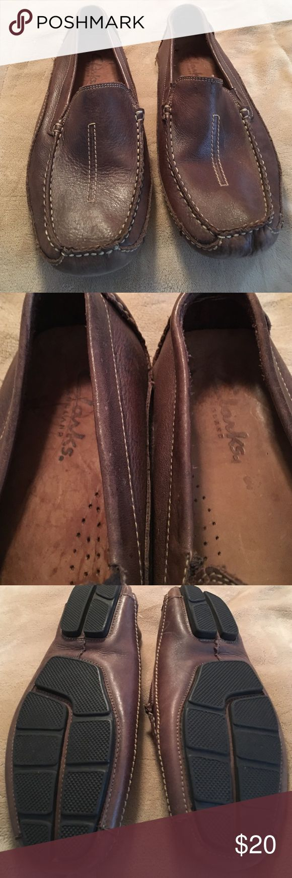 Men's brown loafers Men's brown loafers worn few times in very good condition Clarks Shoes Boat Shoes