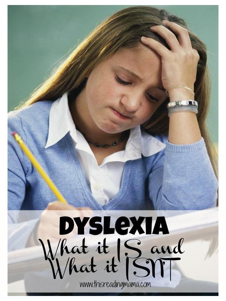 Dyslexia-what it is and what it isn't {This Reading Mama}.  Most people don't even know they are dyslexic until later in life...if at all.  Dyslexia Affects 1 in 5.  It's a learning DIFFERENCE not a Learning DISORDER and the very worst part is that most teachers have no clue about how to identify and help these kids and they will struggle because of ignorance because it has NOTHING to do with their intelligence.