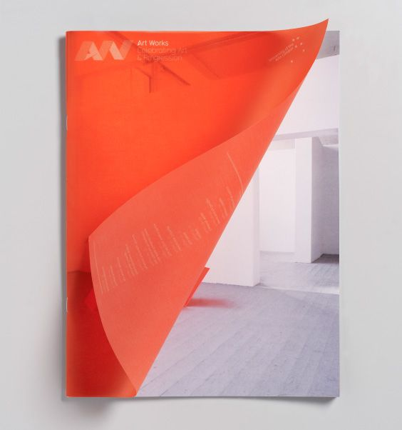 University of the Arts London orange vellum cover by Magpie Studio #MagieStudio #UniversityoftheArtsLondon